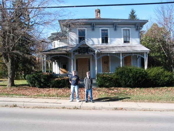 The then abandoned ZBT frat house.